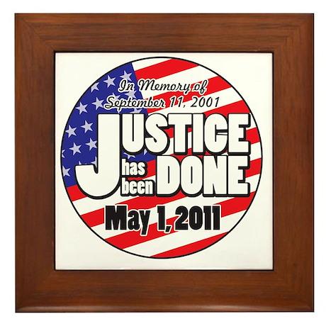 Justice_Has_Been_Done Framed Tile