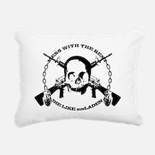 DIE_LIKE_BINLADEN_whitet Rectangular Canvas Pillow