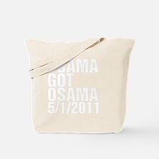 obamagotosama1clrCPDark Tote Bag