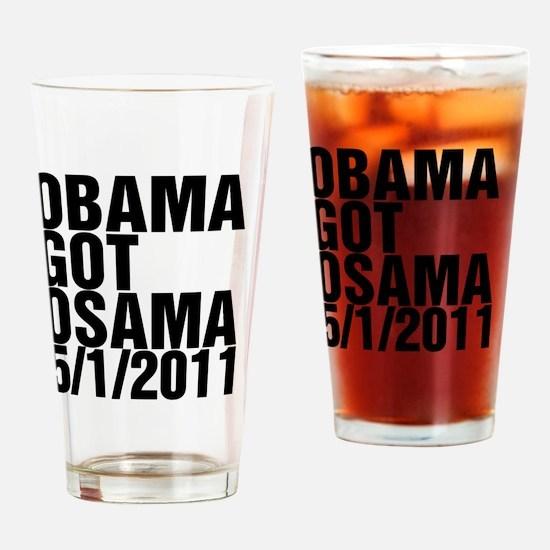 obamagotosama1clr Drinking Glass
