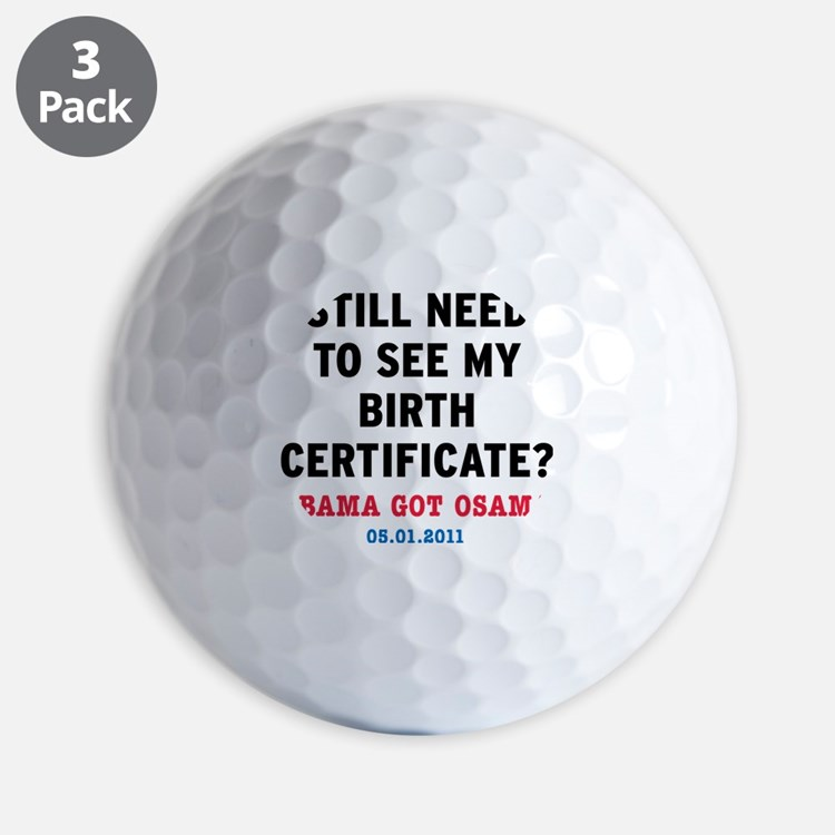 BirthCertificate_small Golf Ball