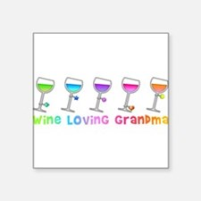 Wine loving grandma Sticker