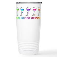 Wine loving grandma Travel Mug