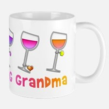Wine loving grandma Mugs