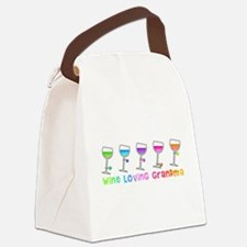 Wine loving grandma Canvas Lunch Bag