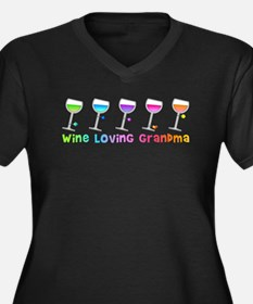 Wine loving grandma Plus Size T-Shirt