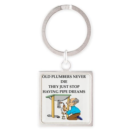 PLUMBER Square Keychain