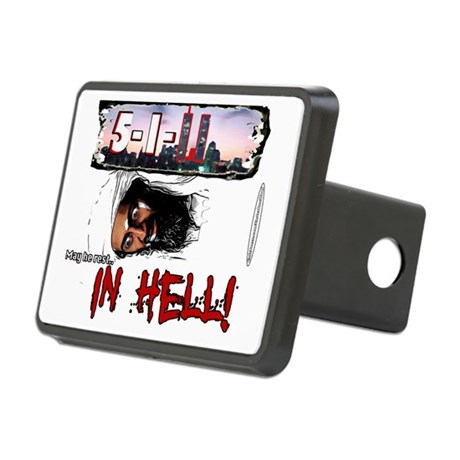 BinLadenRestInHellTshirt Rectangular Hitch Cover