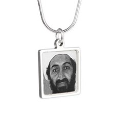 osama Silver Square Necklace