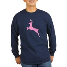 Pink Leaping Deer T