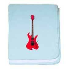 Red Electric Guitar baby blanket