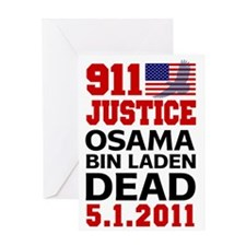 911 Justice Osama Dead 1 Greeting Card