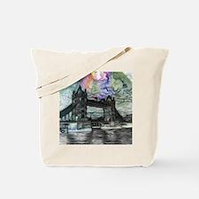 london tower bridge paint Tote Bag