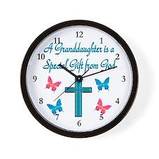 CUTE GRANDDAUGHTER Wall Clock