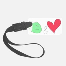 peas and love Luggage Tag