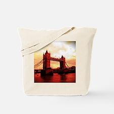 london tower bridge red Tote Bag