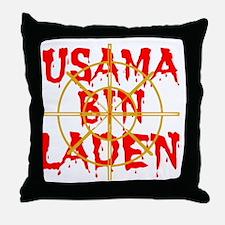 usama bin Laden Throw Pillow