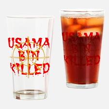 usama bin killed Drinking Glass