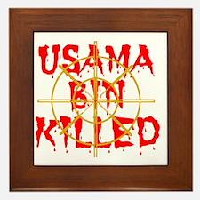 usama bin killed Framed Tile
