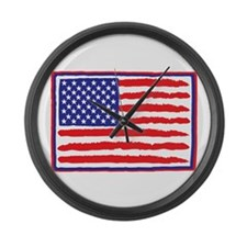mission accomplished darks Large Wall Clock