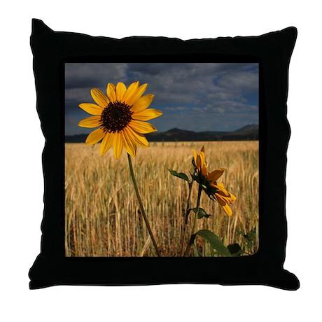 Prairie Sunflower Throw Pillow