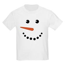 Snowman Face Funny T-Shirt