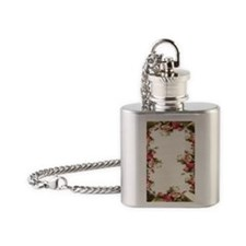Gold_and_Roses_iPhone 4_slider_Case Flask Necklace