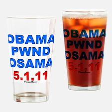 Obama Pwnd2 Drinking Glass