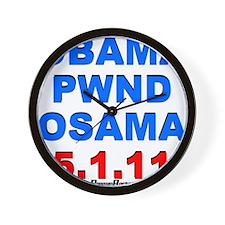 Obama Pwnd2 Wall Clock