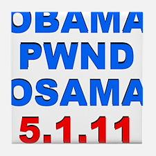 Obama Pwnd2 Tile Coaster