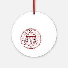 georgia Round Ornament