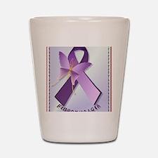 Support Fibromyalgia AwarenessPosterP Shot Glass