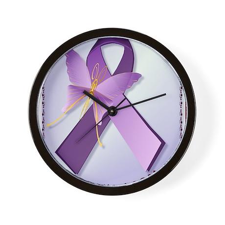 Support Fibromyalgia AwarenessPosterP Wall Clock