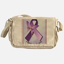 Support Fibromyalgia AwarenessPoster Messenger Bag