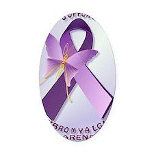 Support Fibromyalgia AwarenessPost Oval Car Magnet