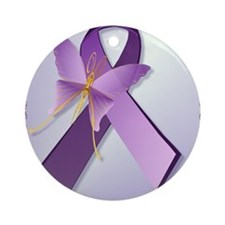 Support Fibromyalgia AwarenessPoste Round Ornament