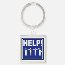 HELP! street sign Square Keychain
