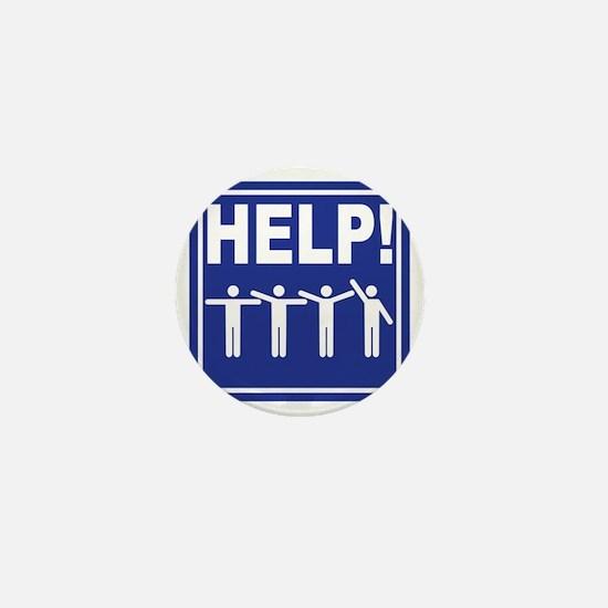HELP! street sign Mini Button