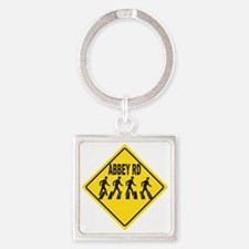 Abbey Rd. Sign Square Keychain