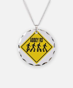Abbey Rd. Sign Necklace