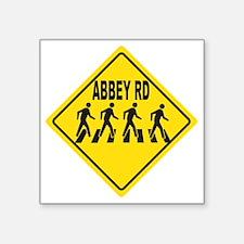 "Abbey Rd. Sign Square Sticker 3"" x 3"""