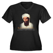 hideandseek Women's Plus Size Dark V-Neck T-Shirt