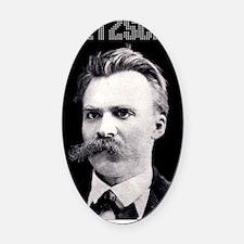 Nietzsche bw Oval Car Magnet