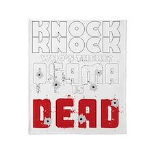 knock knock osama dead Throw Blanket