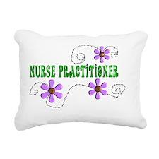 Nurse Practitoner Green  Rectangular Canvas Pillow