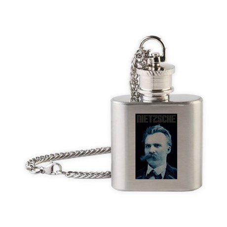 Nietzsche blue Flask Necklace