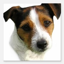 """Jack Russell Terrier Wat Square Car Magnet 3"""" x 3"""""""