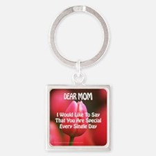 TM every day Square Keychain