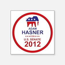 """2012_adam_hasner_main Square Sticker 3"""" x 3"""""""