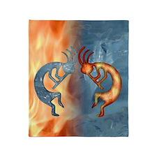 Kokopelli Fire  Ice Ipad Throw Blanket